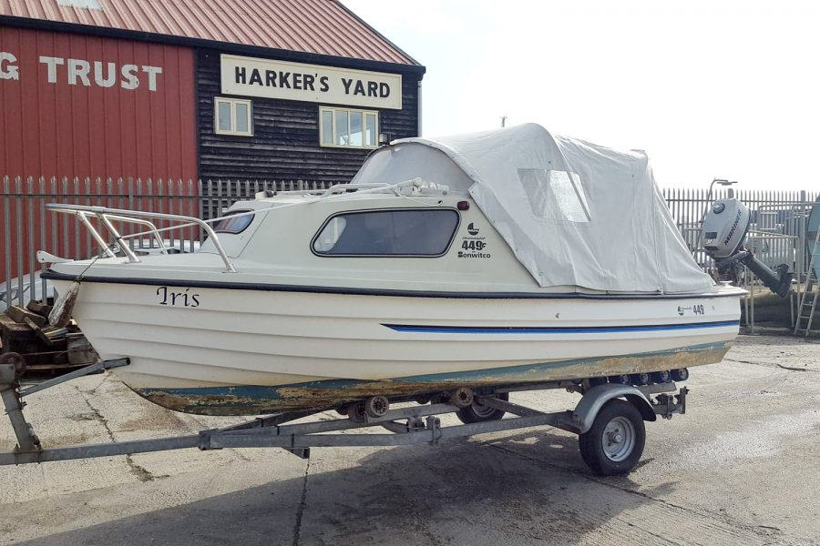 Bonwitco 449c Cabin Cruiser - on Morgan Marine slipway