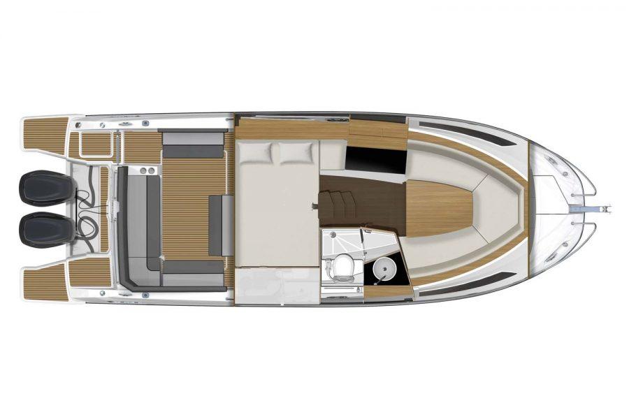 Jeanneau Cap Camarat 9.0 WA - overview diagram of cabins
