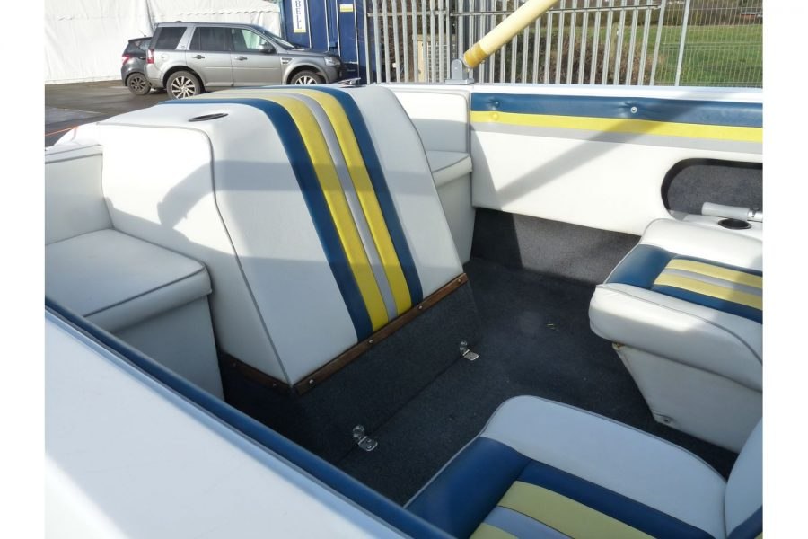 Invader 55 - Bow Rider Sportsboat - engine cover and quarter seats