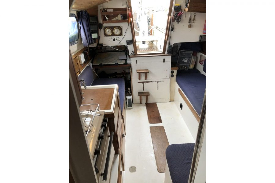 Westerly Pentland Ketch - saloon looking aft