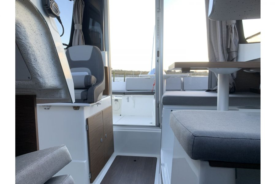 Used 2018 Jeanneau Merry Fisher 605 Legend - view from wheelhouse towards stern