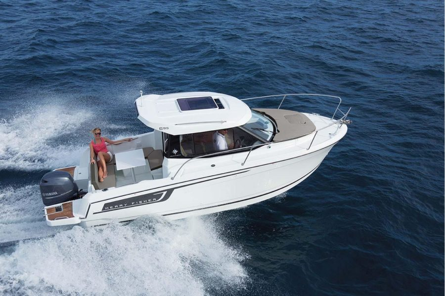 Jeanneau Merry Fisher 695 - starboard side overhead view