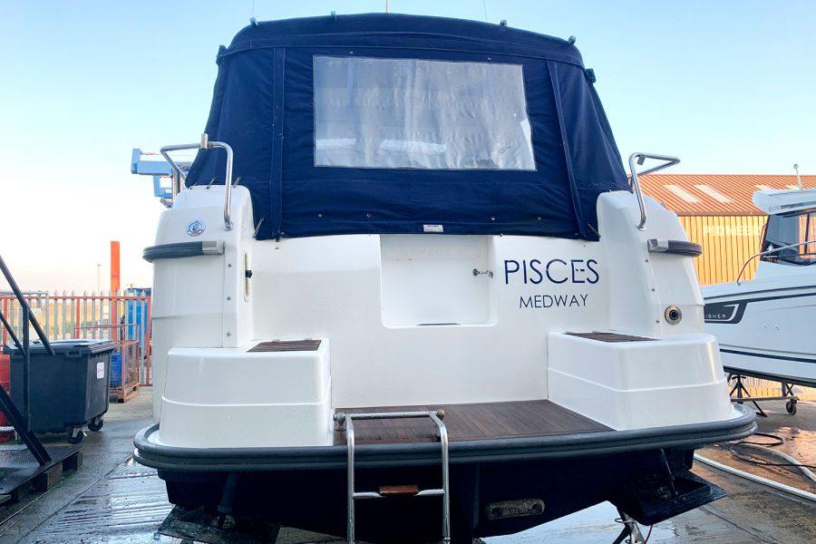 Nimbus 30c boat - transom and swim platform