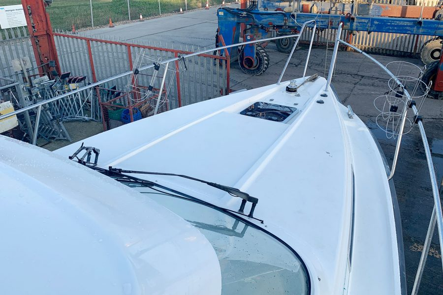 Nimbus 30c boat - bow and pulpit rails