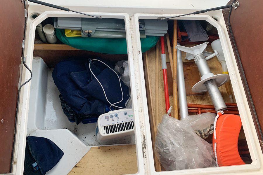 Nimbus 30c boat - storage locker