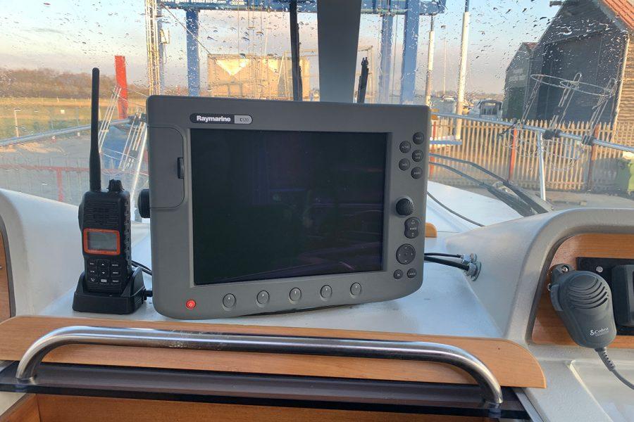 Nimbus 30c boat - Raymarine C120 multi-function display