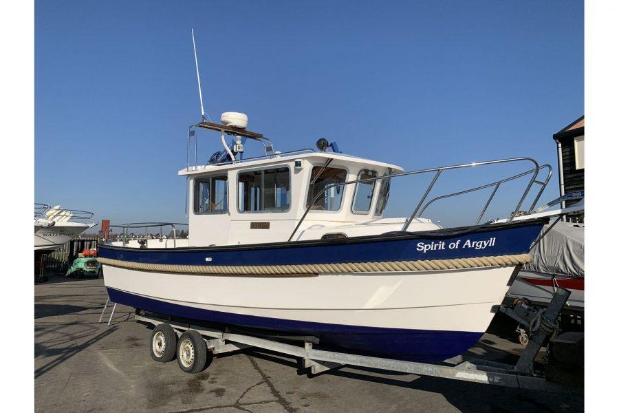 Hardy Fisherman 24 Extended Wheelhouse - in boatyard