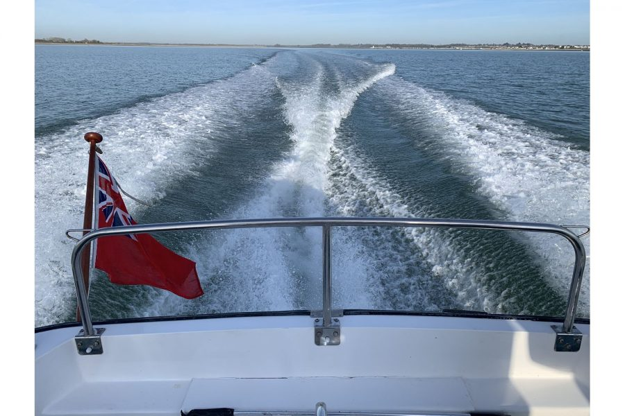 Hardy Fisherman 24 Extended Wheelhouse - on the water - view from aft