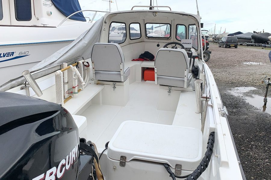 Orkney 520 fishing boat - view from stern to bow