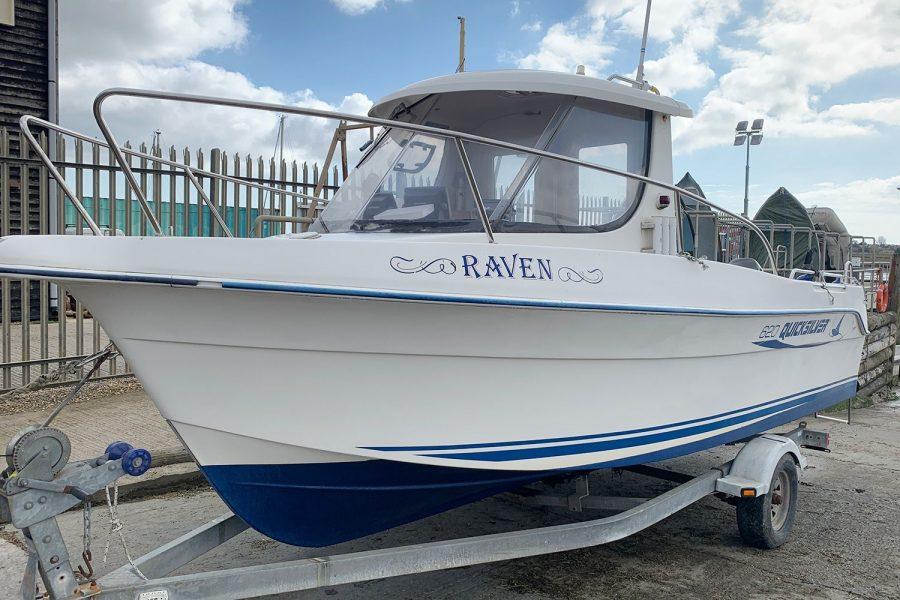 Quicksilver 620 - port side bow