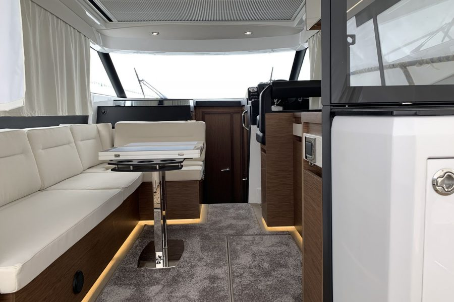 Jeanneau NC 37 - wrapped up at Morgan Marine - large saloon