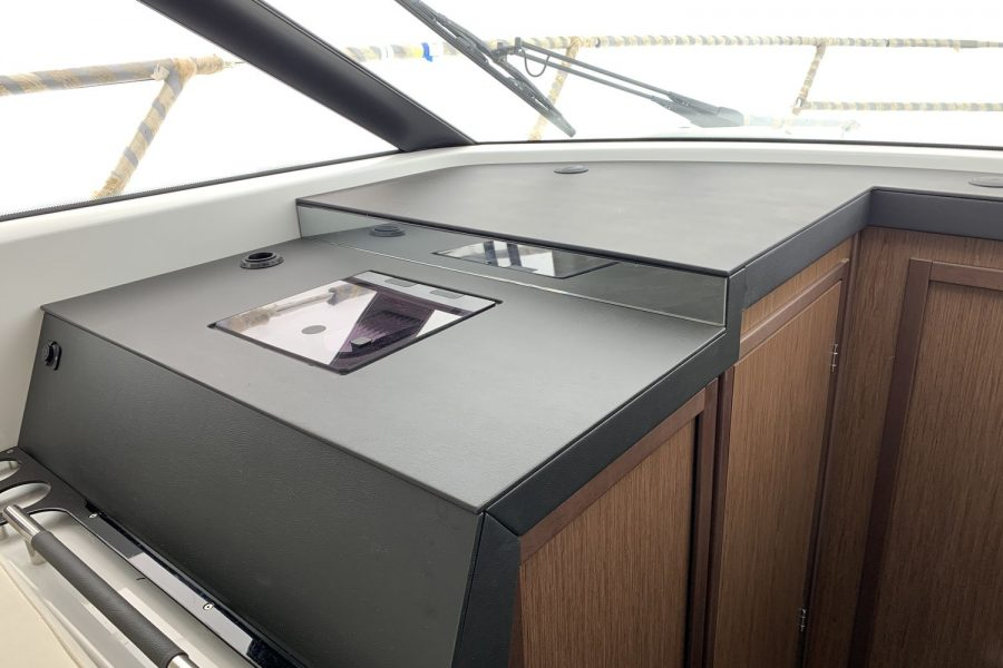 Jeanneau NC 37 - wrapped up at Morgan Marine - co-pilot position