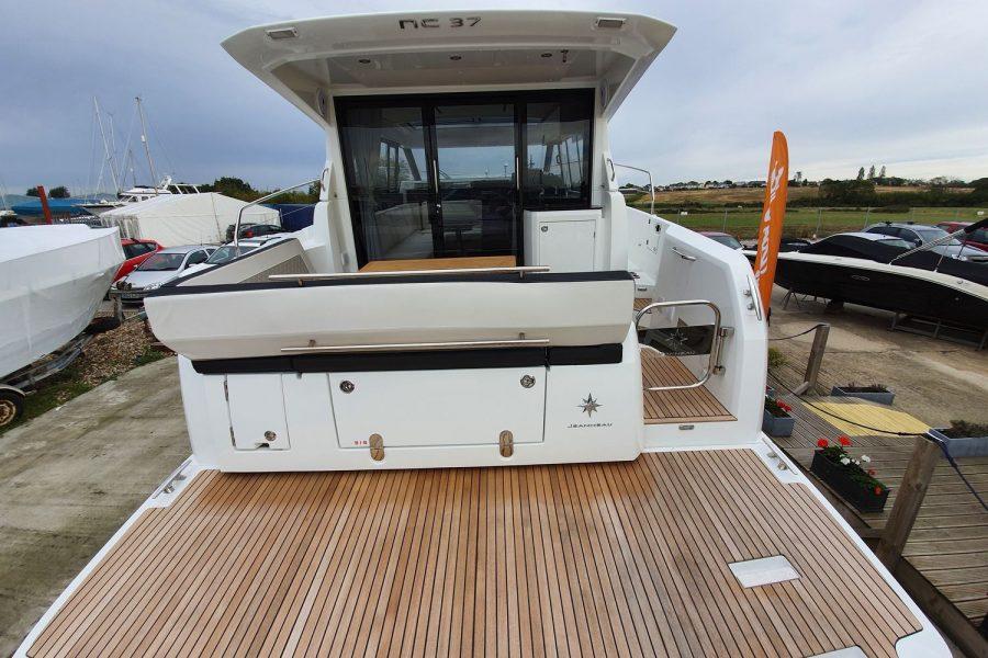 Jeanneau NC 37 - wrapped up at Morgan Marine - bathing platform