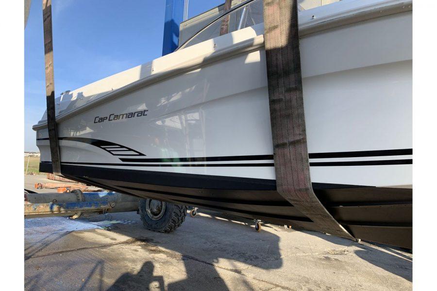 Jeanneau Cap Camarat 4.7 CC - in hoist at Morgan Marine