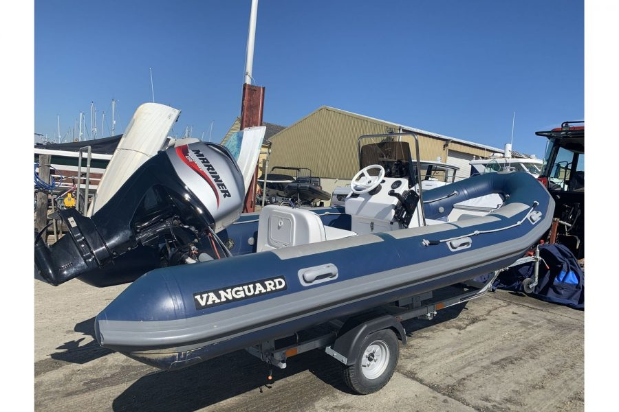 Vanguard DF 500 RIB - starboard side