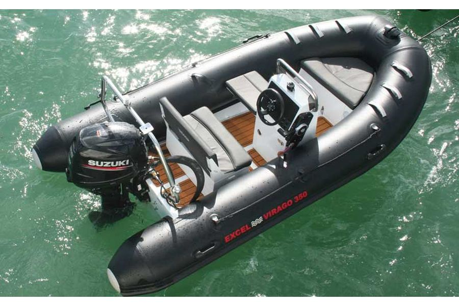 Excel Virago 350 RIB - overhead view from starboard