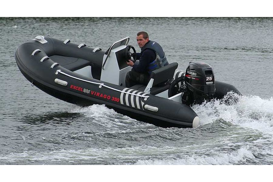 Excel Virago 350 RIB - on the water