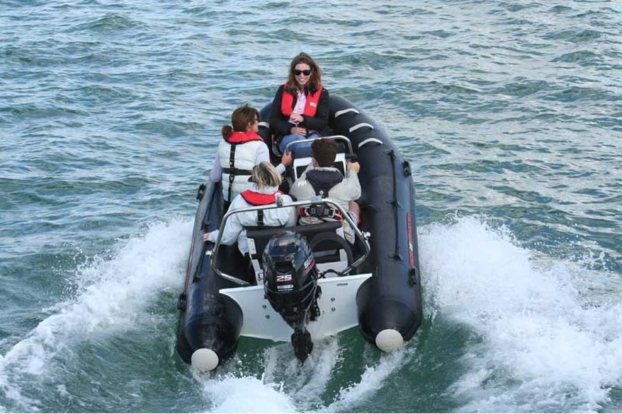 Excel Virago 350 RIB - overhead view from stern