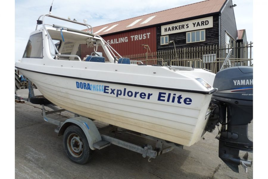 Explorer Elite fishing boat - port side