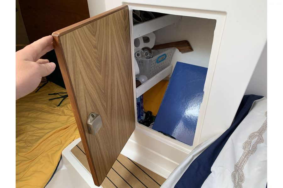 Jersey 30 motor cruiser - storage cupboard
