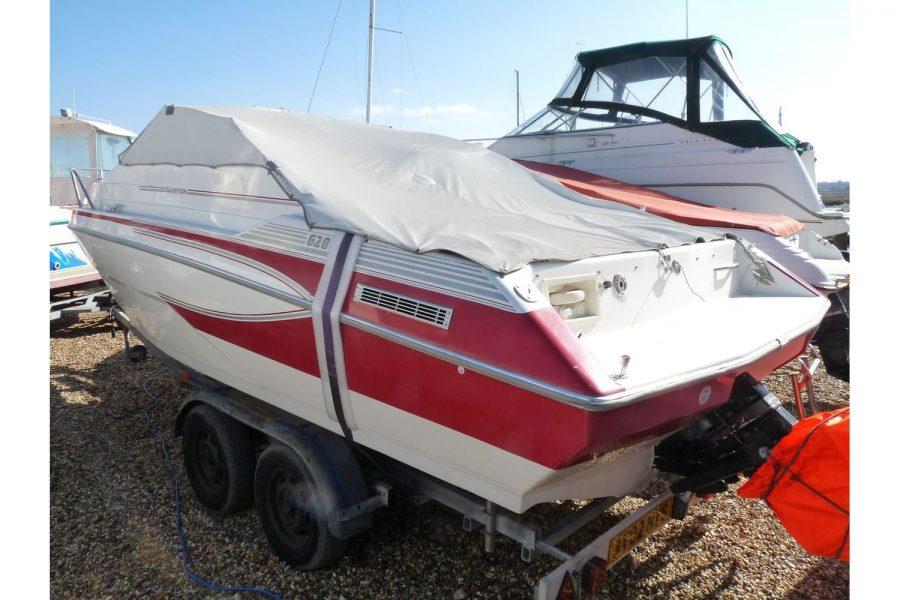 Glastron 2000 cuddy sportsboat - port side and transom