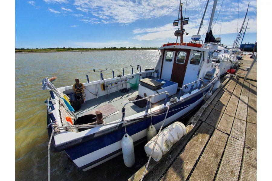 Starfish 8m fishing boat - large and safe cockpit