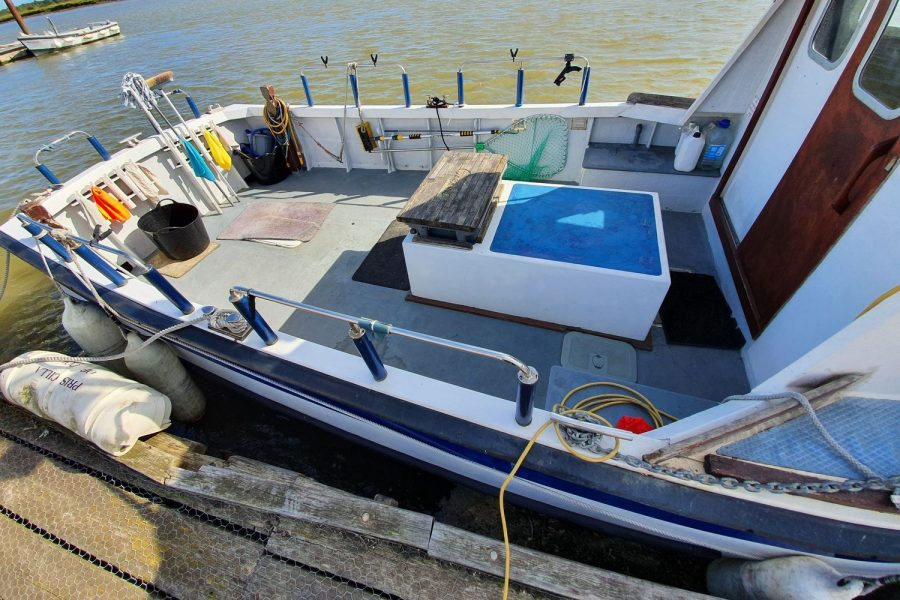 Starfish 8m fishing boat - plenty of rod holders