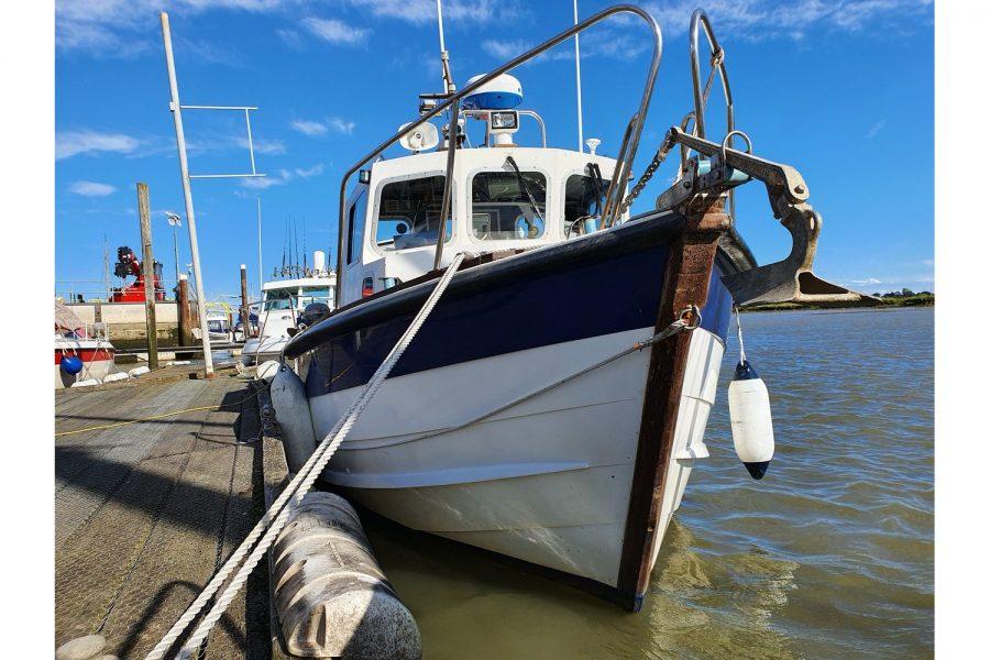 Starfish 8m fishing boat - view towards bow