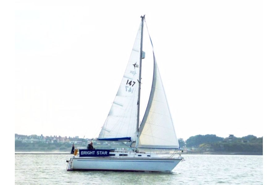 Westerly Griffon 26 - with sails up