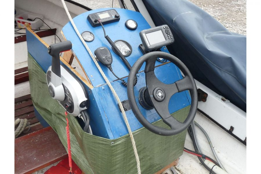14ft Simulated Clinker Fishing Boat - helm position