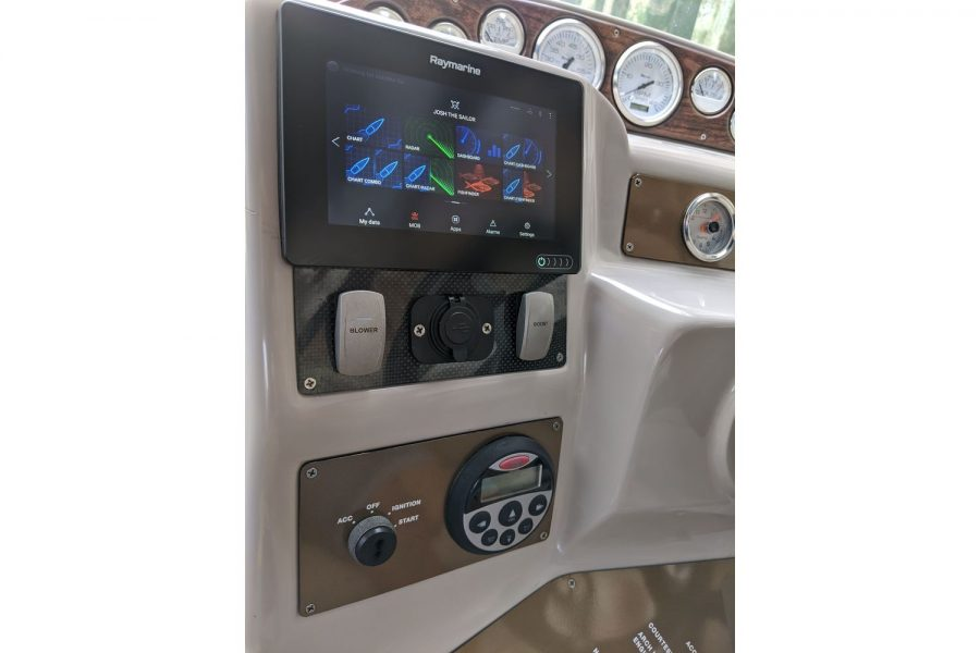Doral Monticello sports cruiser - Raymarine navigation electronics
