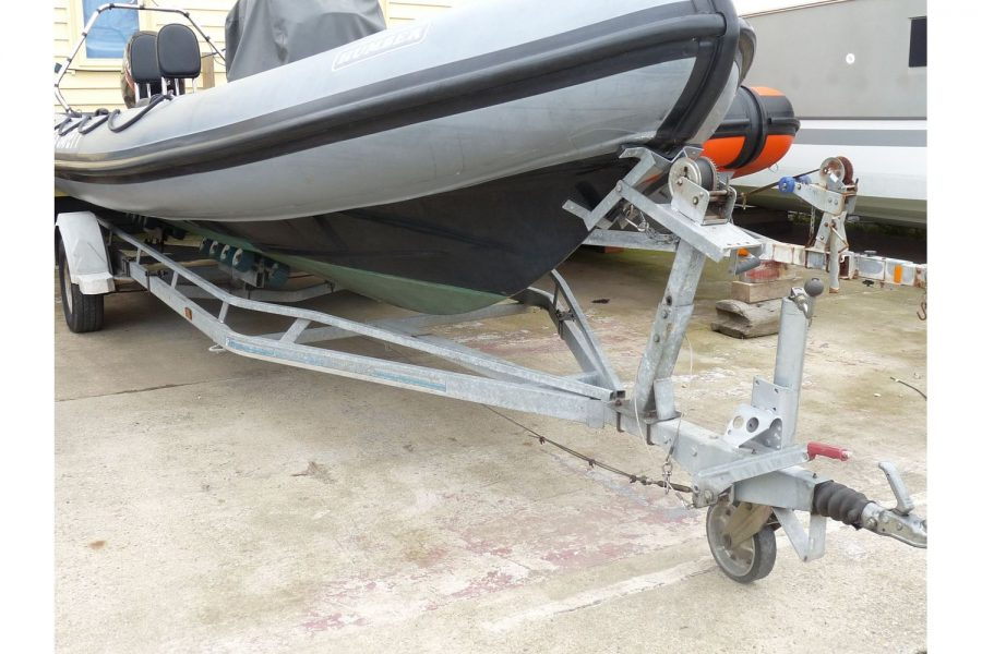 Humber Destroyer 7m RIB - hull and trailer