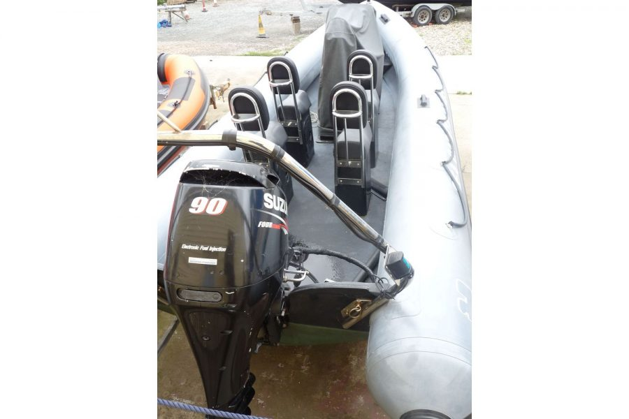 Humber Destroyer 7m RIB - view from stern