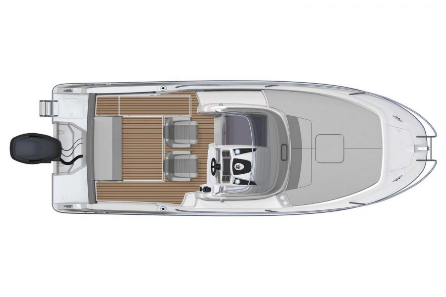 Jeanneau Cap Camarat 7.5 WA - Series 2 - overhead view diagram without bench seats