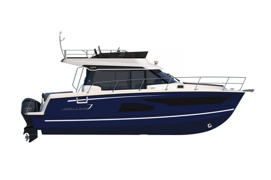 Jeanneau Merry Fisher 1095 Flybridge - side profile diagram