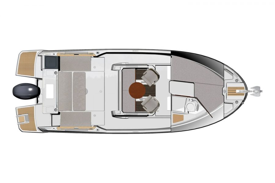 Jeanneau Merry Fisher 795 Marlin - wheelhouse and cabin diagram