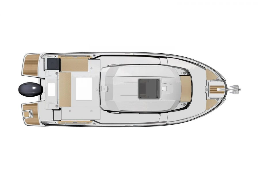 Jeanneau Merry Fisher 795 Marlin - overhead view diagram