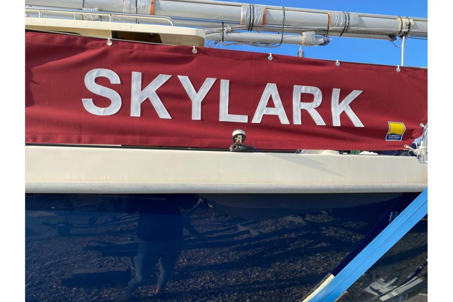 Haber 620 - spray dodger with Skylark name