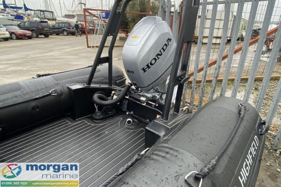 Highfield PA 500 aluminium RIB - Honda BF80 outboard and A-frame
