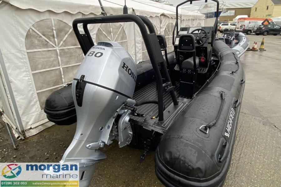 Highfield PA 500 aluminium RIB - view of aft