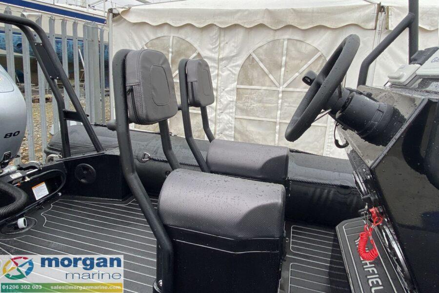 Highfield PA 500 aluminium RIB - pilot and co-pilot jockey seats