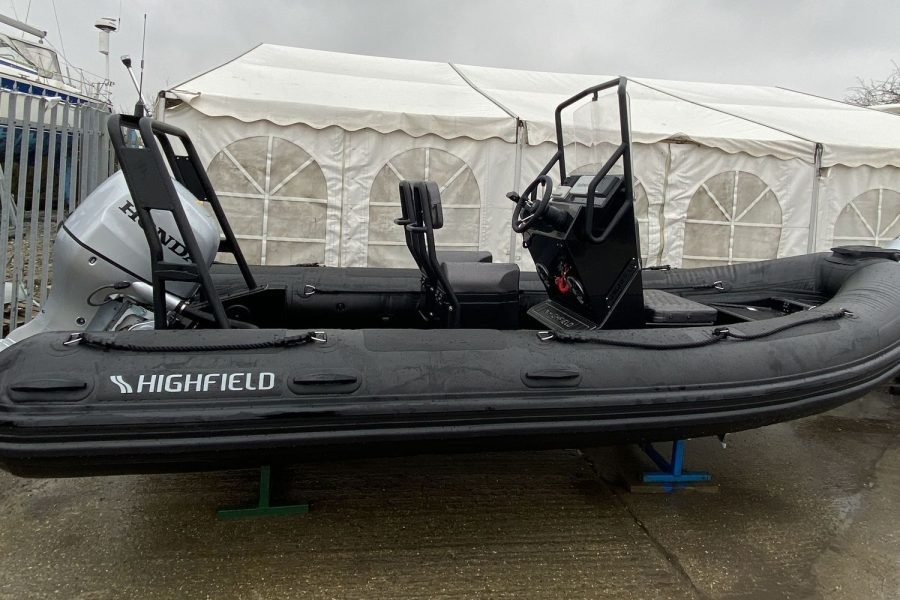 Highfield PA 500 aluminium RIB - view from starboard side