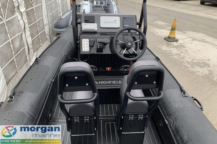 Highfield PA 500 aluminium RIB - console and jockey seats