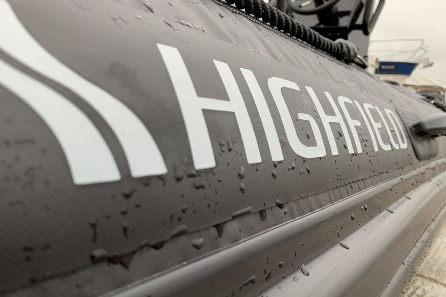Highfield PA 500 aluminium RIB - tubes with Highfield decal