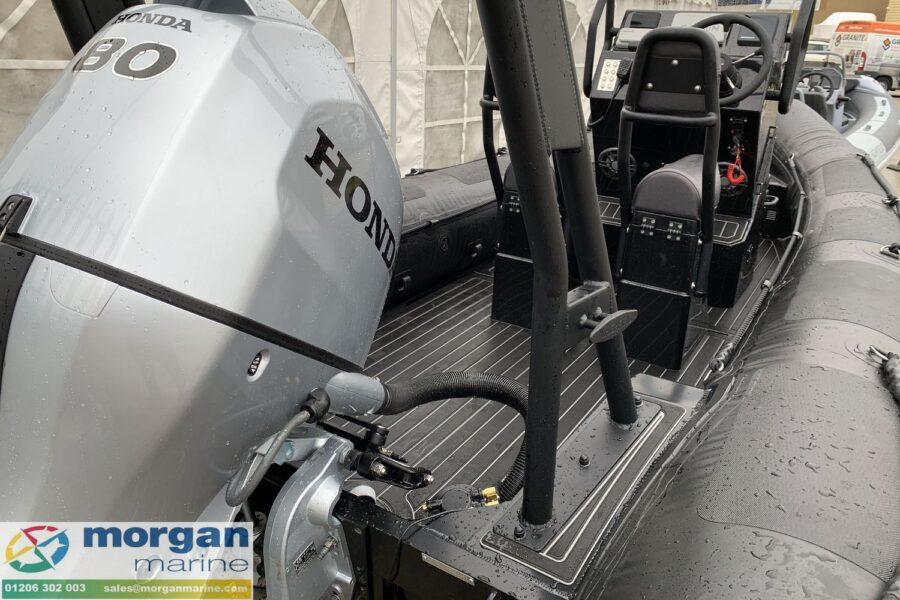 Highfield PA 500 aluminium RIB - transom with Honda BF80 outboard
