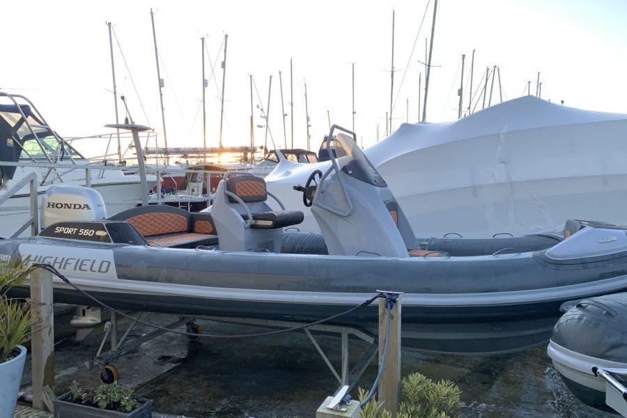 Highfield SP 560 aluminium RIB - starboard side