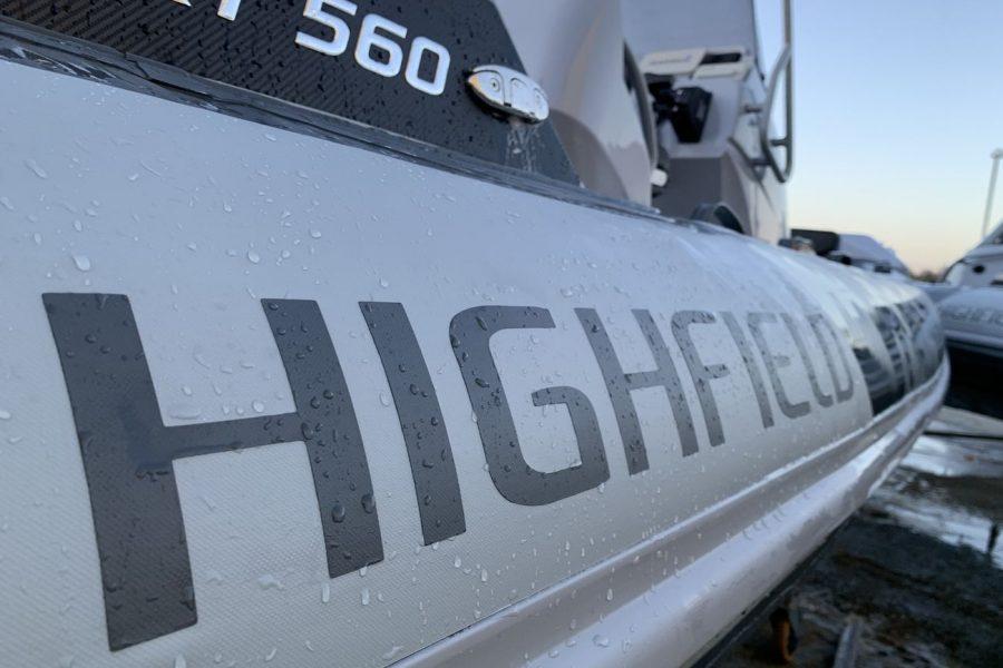 Highfield SP 560 aluminium RIB - tube with Highfield decal
