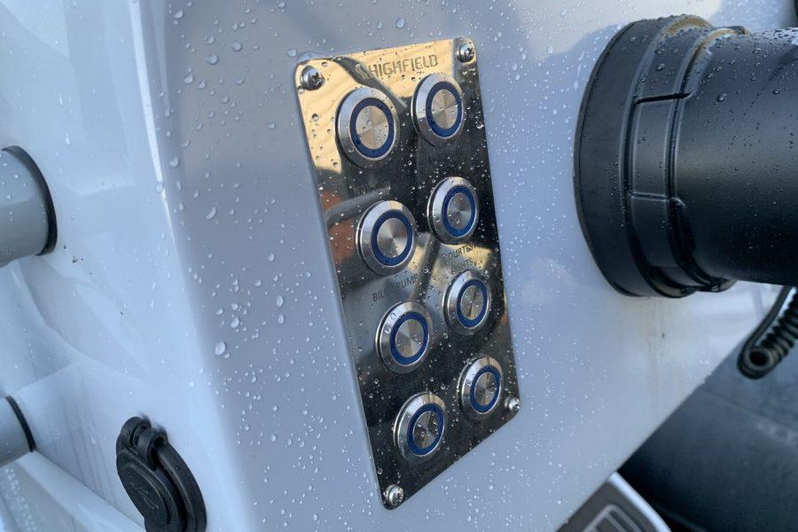 Highfield SP 560 aluminium RIB - switch panel