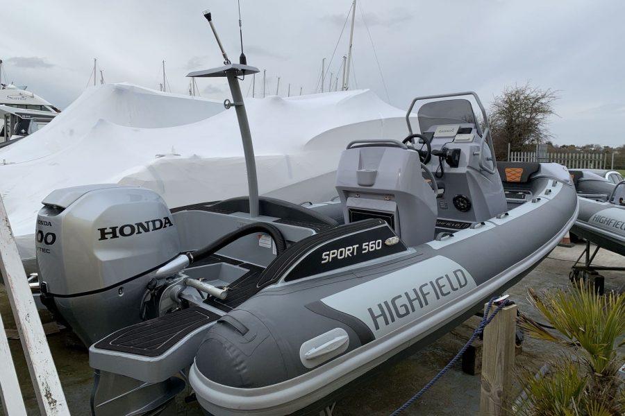 Highfield SP 560 aluminium RIB - starboard side aft
