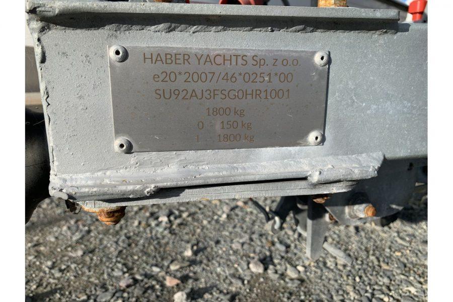 Haber 620 yacht - Haber Yachts trailer palte